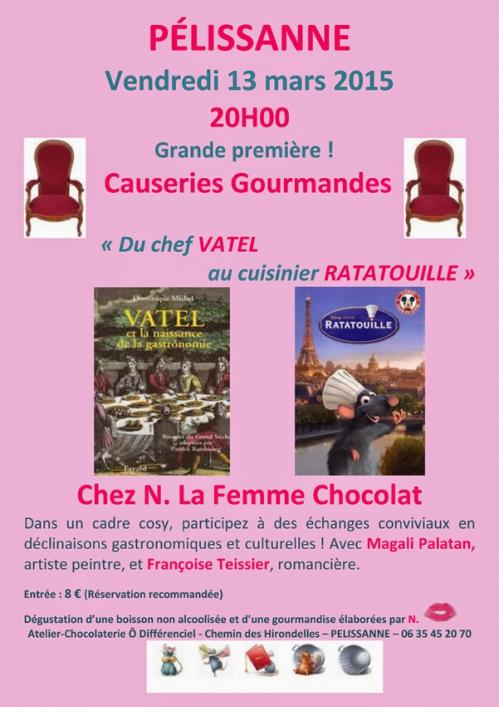Affiche les causeries gourmandes