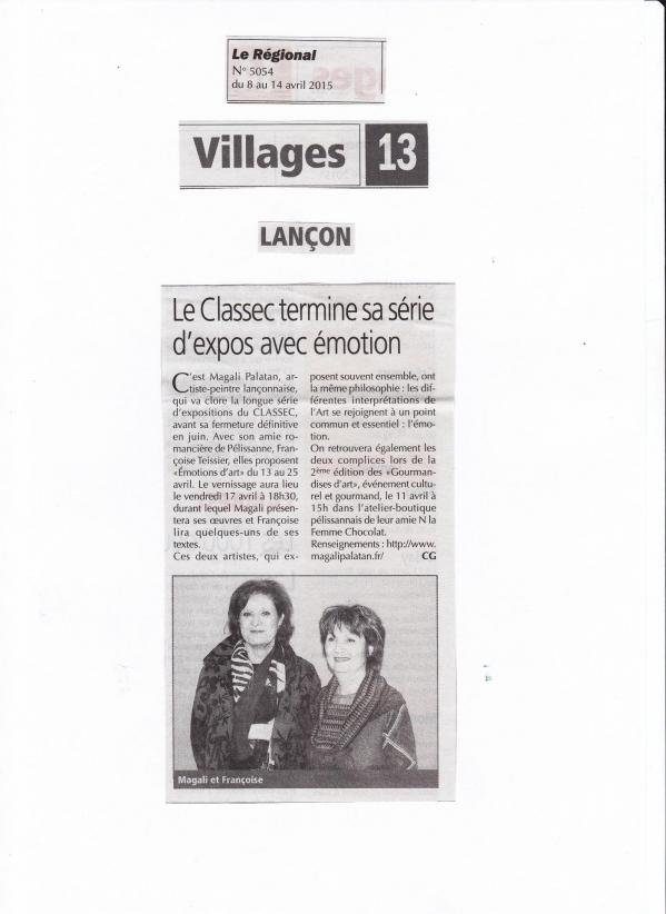 Expo emotions d arts le classec avril 2015