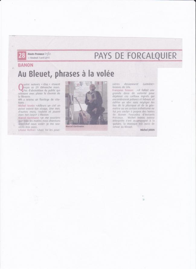 Provence infos le bleuet mars 2015